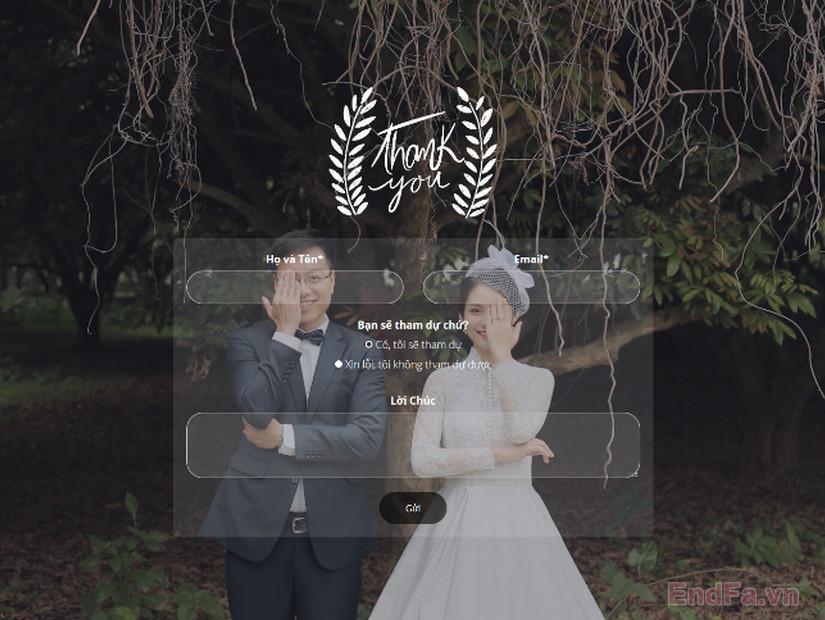 Sản phẩm thiệp cưới online EndFa